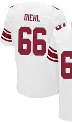 a3fd0ddc6 $78.00--David Diehl White Elite Jersey - Nike Stitched New York Giants #66  Jersey,Free Shipping! Buy it now:click on the picture, than click on