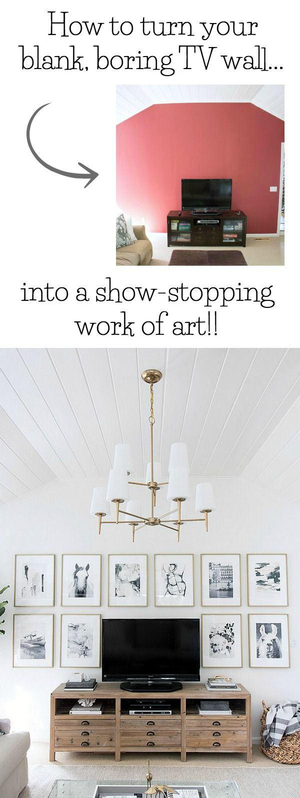 One Room Challenge Family Room Reveal   Pinterest   Decorating, TVs ...