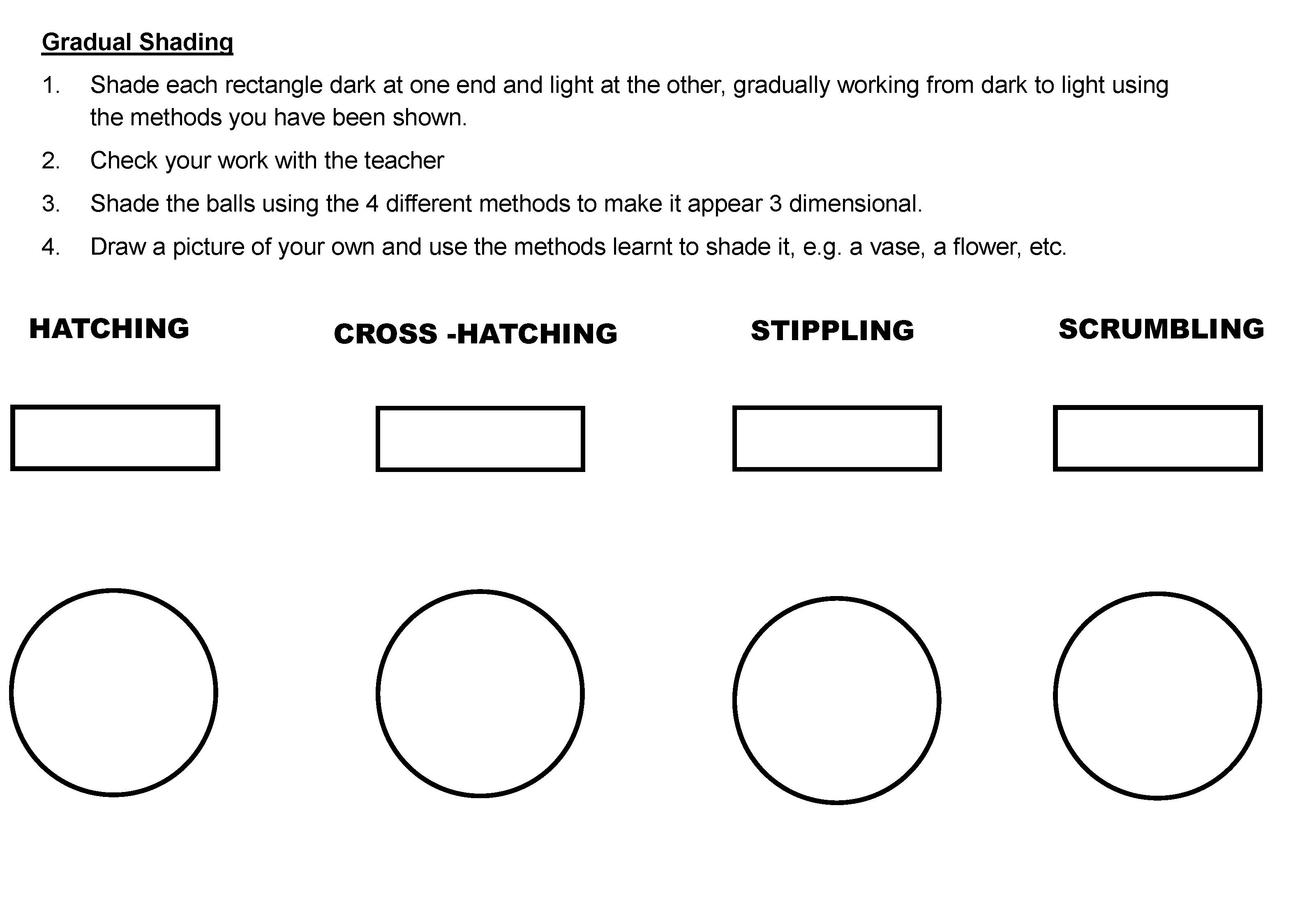 Colored Pencil Techniques Worksheet