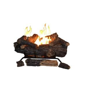 Emberglow Savannah Oak 24 In Vent Free Propane Gas Fireplace Logs