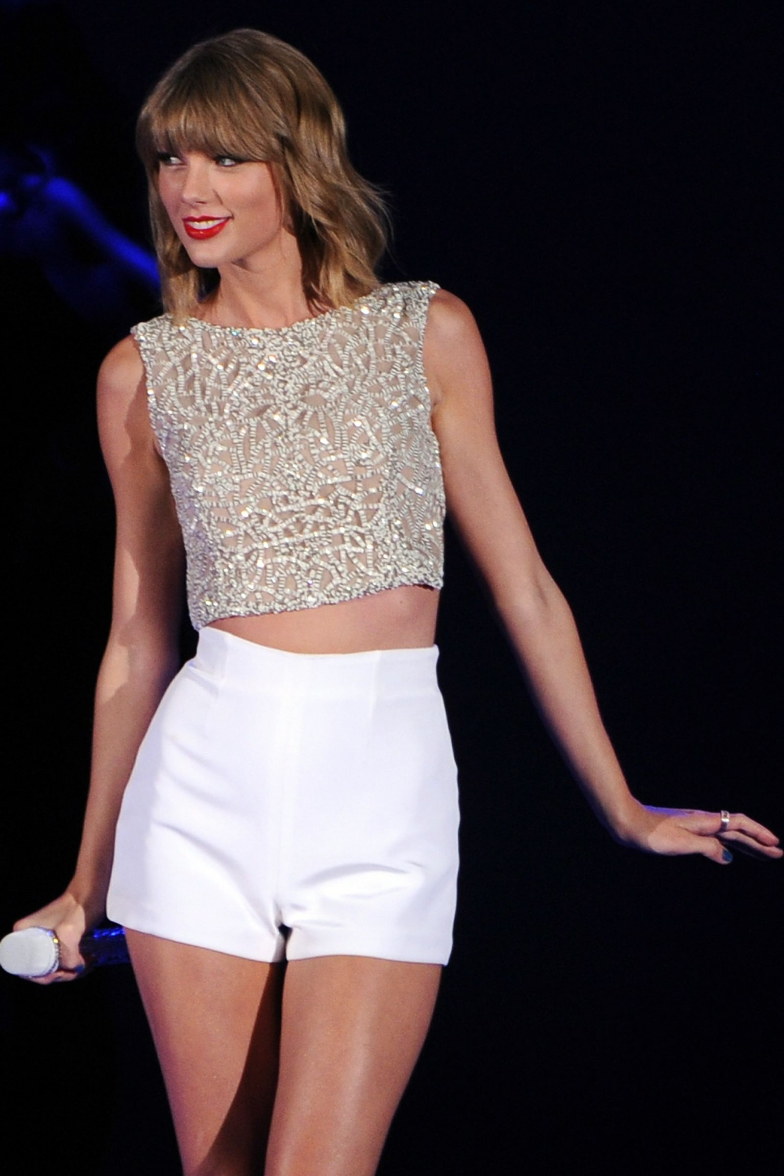 Taylor performs at the Hollywood Bowl on Oct. 24, 2014, in Los Angeles, California. Getty -Cosmopolitan.com