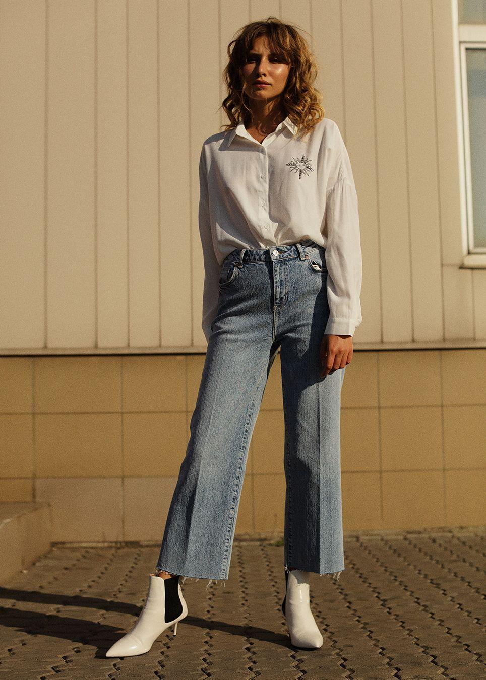Рубашка с джинсами клеш in 2020 | Normcore, Fashion, Style
