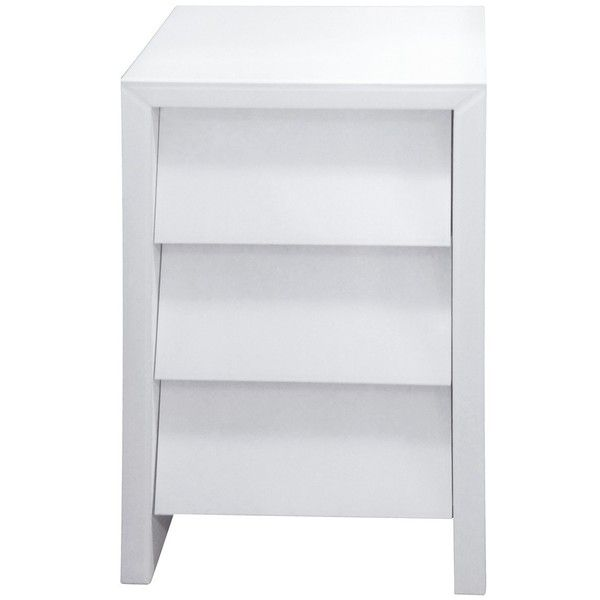 Angled Mirrored Bedside in White (1.220.875 COP) ❤ liked on ...
