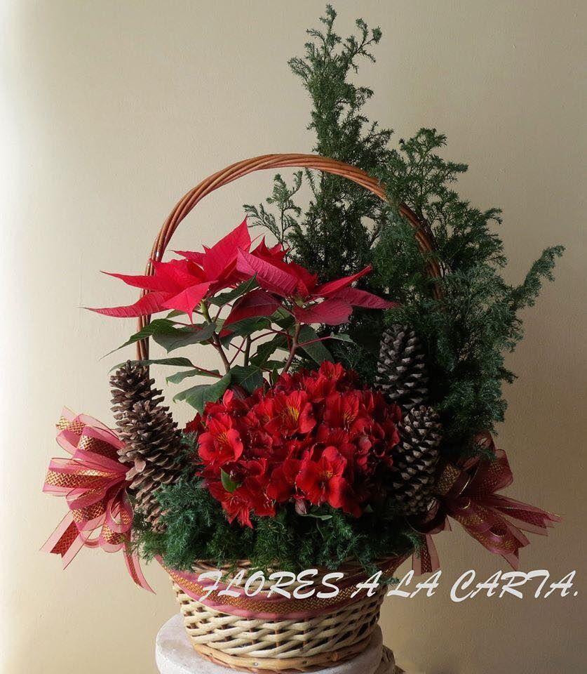 Arreglo de nochebuenas ac 02 navidad pinterest - Centros florales navidenos ...