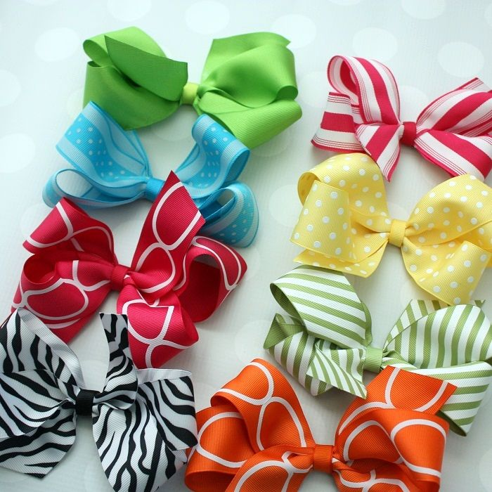 How To Make Boutique Style Hair Bows Online Ribbon May Arts Hair Bows Boutique Hair Bows Boutique Bows