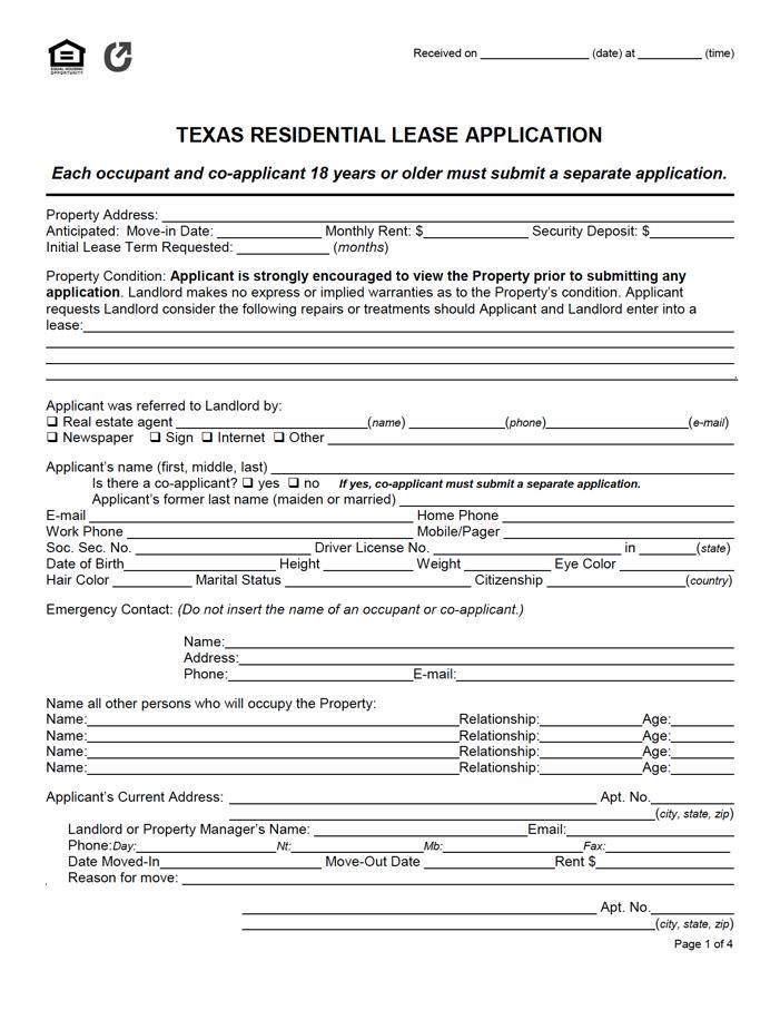 Deadline For Texas State Application