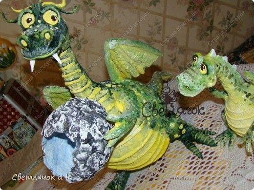 зависимости змей горыныч из папье маше своими руками фото икру