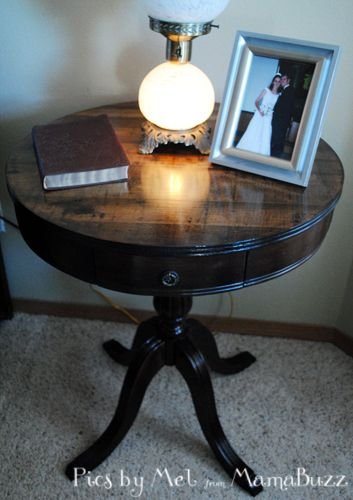 Refinishing An Antique Wooden Round Table S H E S C R