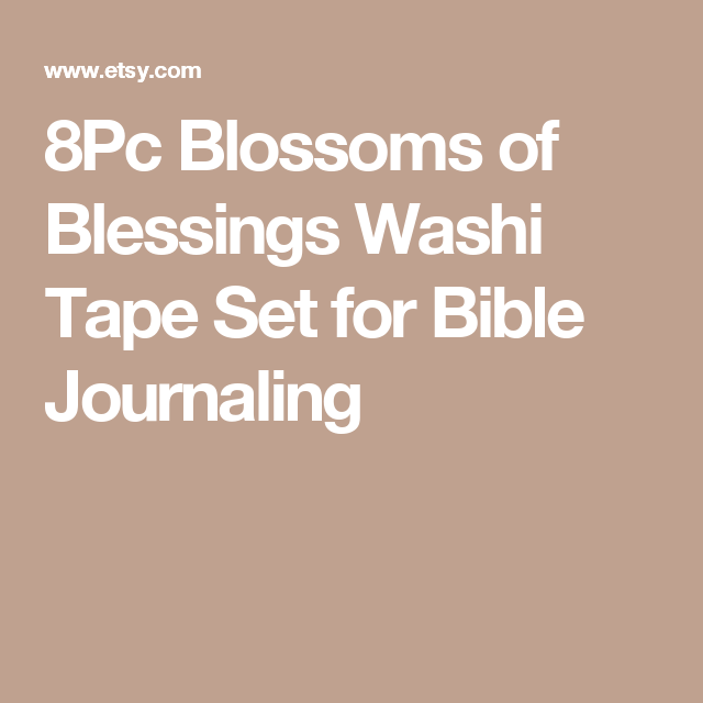 8Pc Blossoms of Blessings Washi Tape Set for Bible Journaling