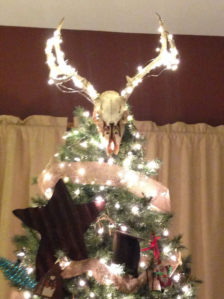 Deer Antler Christmas Tree Topper Google Search Tree Toppers