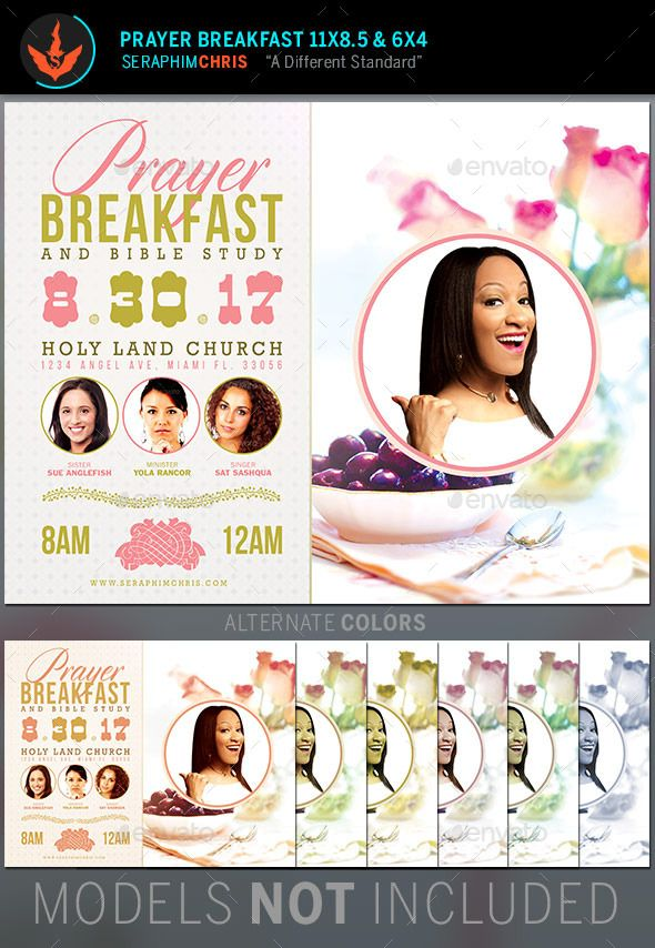 Prayer Breakfast Church Flyer Template Prayer breakfast, Flyer - conference flyer template