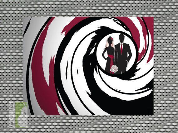 007 James Bond Style Doublesided Save the Date Card – James Bond Birthday Cards