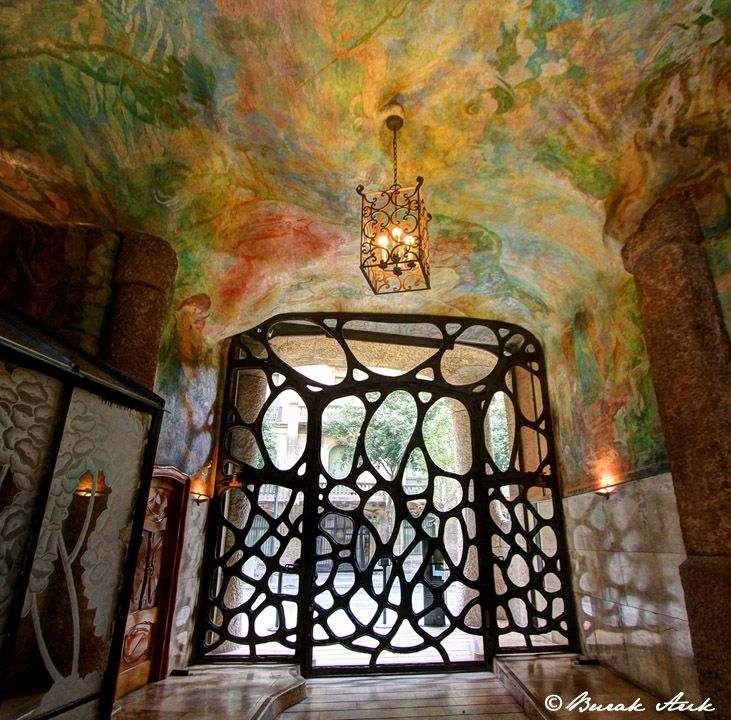Front Door. La Pedrera/ Casa Mila. Antoni Gaudi. Barcelona ...