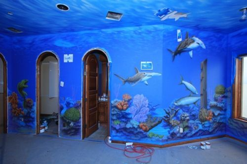 Room Ideas   Ocean Themed Bedroom Ocean Themed Bedroom Ideas Like It But  Would Not Try It