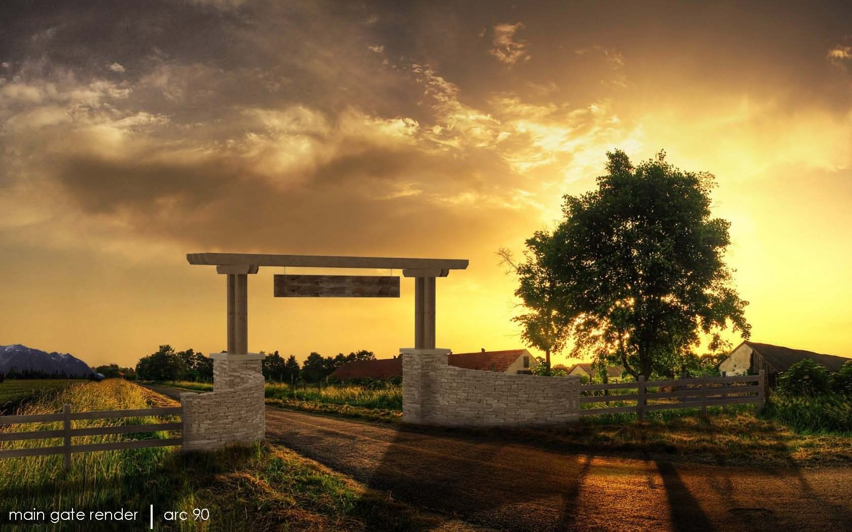 Barn Design Project designed by David Heaton Ranch Entry