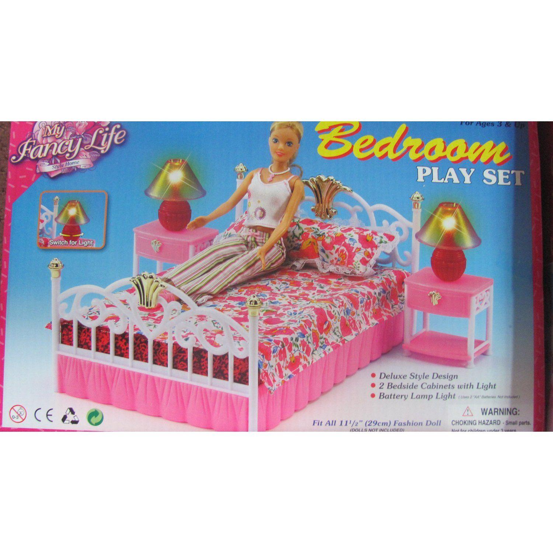 Best Amazon Com Barbie Size Dollhouse Furniture Bedroom Toys 640 x 480