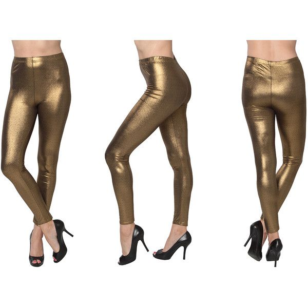 Women's Isadora Women's Metallic Leggings ($12) ❤ liked on ...