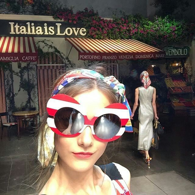Dolce & Gabbana Fashion Show ❤Italia is Love❤: in this photo tendency Sailor Stripes.