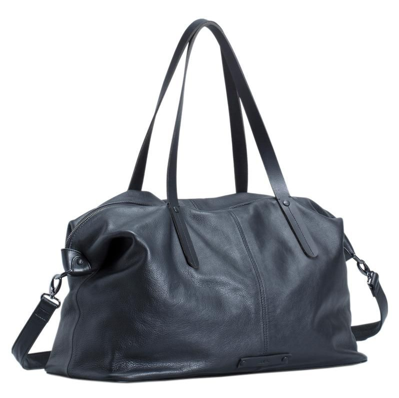 Saunte Leather Overnight Bag Black Elk Accessories Nz Stockist