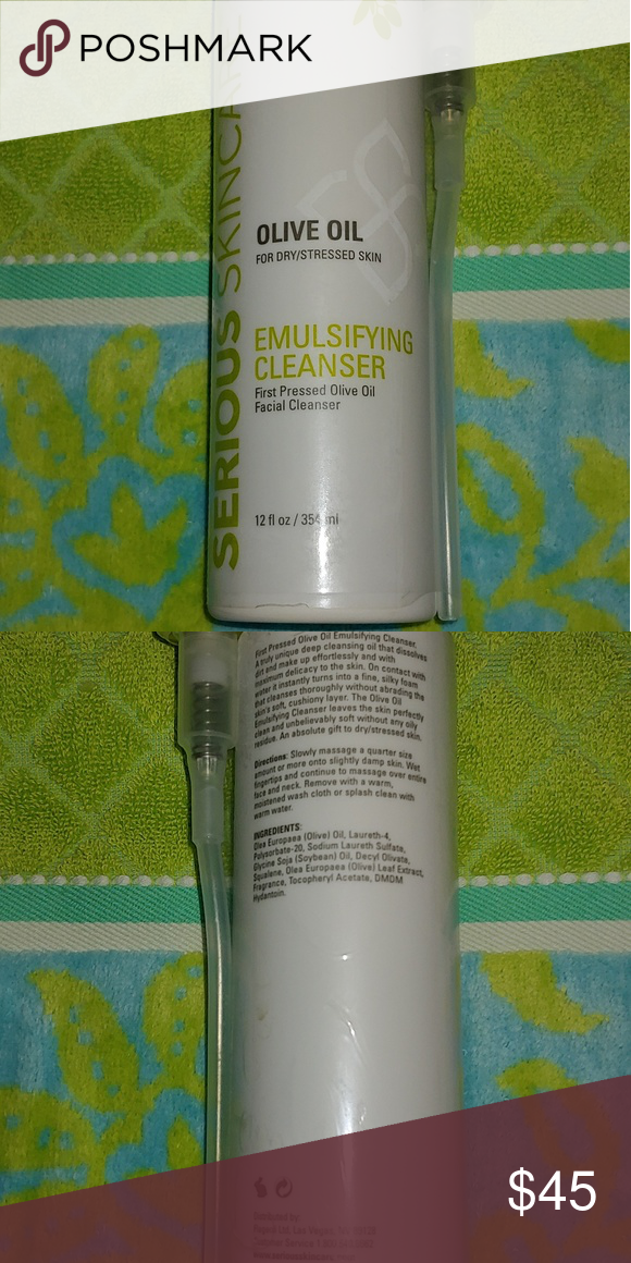 Serious Skin Care Olive Oil Emulsifying Cleanser Cleanser And Toner Serious Skin Care Olive Oil Facial