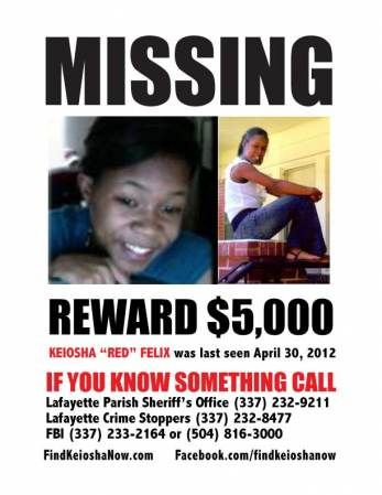 keiosha felix reward flyer yesssss pinterest missing persons