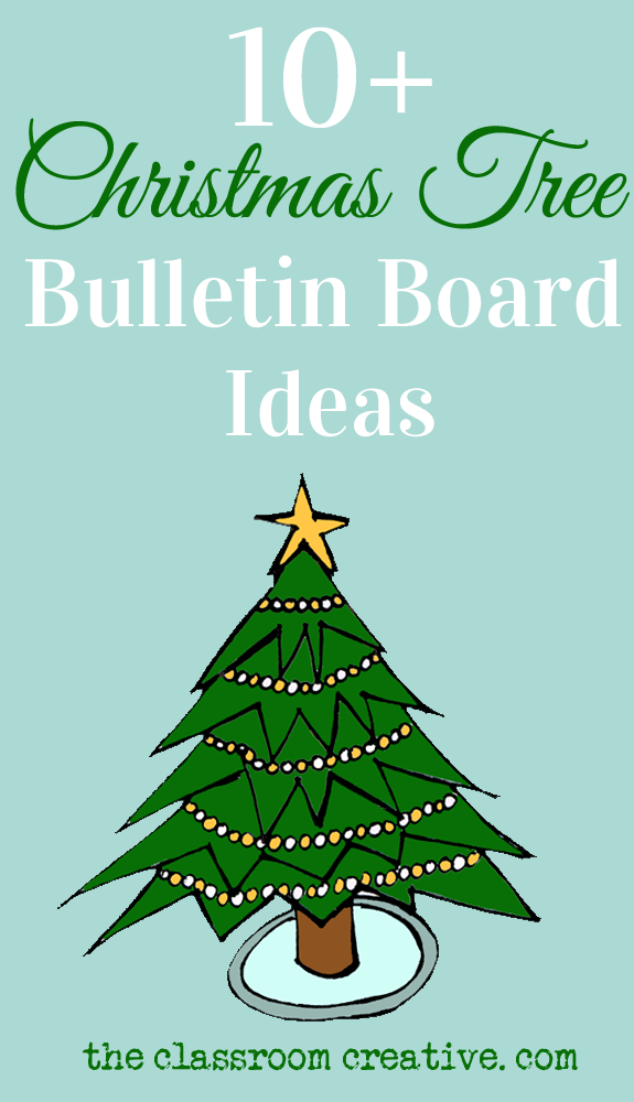 This Post Is All Bulletin Boards With Christmas Tree Ideas! #bulletin Board  #Christmas