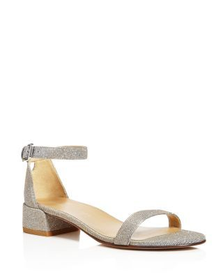 08e5c6dd60b STUART WEITZMAN Nudistjune Metallic Block Heel Sandals.  stuartweitzman   shoes  sandals