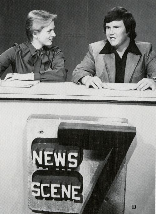 Photograph of the 6:30 pm Channel 7 News broadcast by Sam