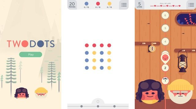 TwoDots is a Sequel to the Dots Game for iOS - http://iClarified.com/41161 - Betaworks has released TwoDots, a sequel to the popular Dots game for iOS.