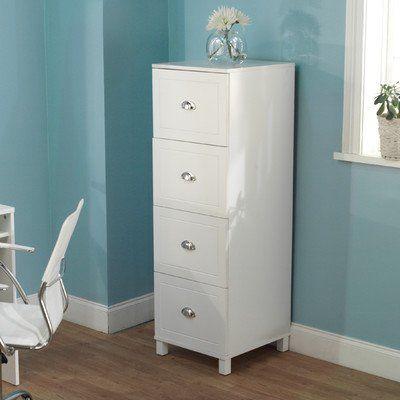 Bradley 4-Drawer Filing Cabinet Finish: Antique White TMS http://www - Bradley 4-Drawer Filing Cabinet Finish: Antique White TMS Http