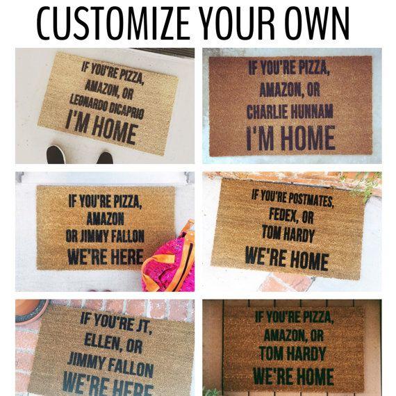 Fully Customized If You Re Doormat Custom Doormat Funny Doormat If You Re Amazon Welcome Mat Home Decor Personalized Doormats Custom Doormat Door Mat Door Mat Diy