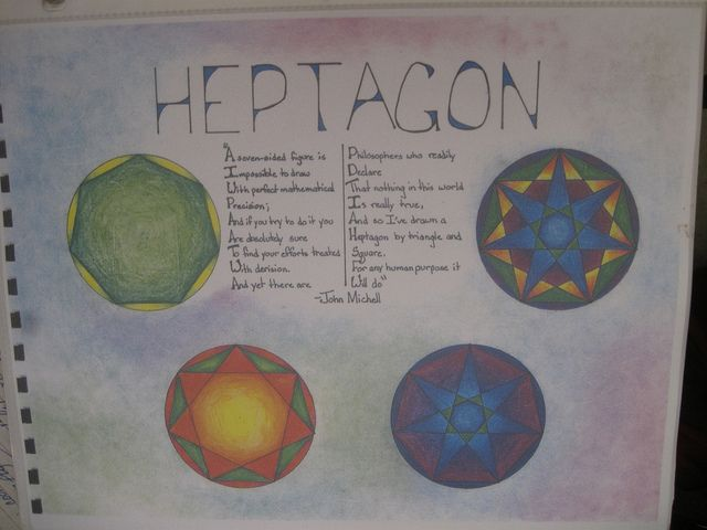 Waldorf ~ 7th grade ~ Math ~ Geometry ~ Heptagon