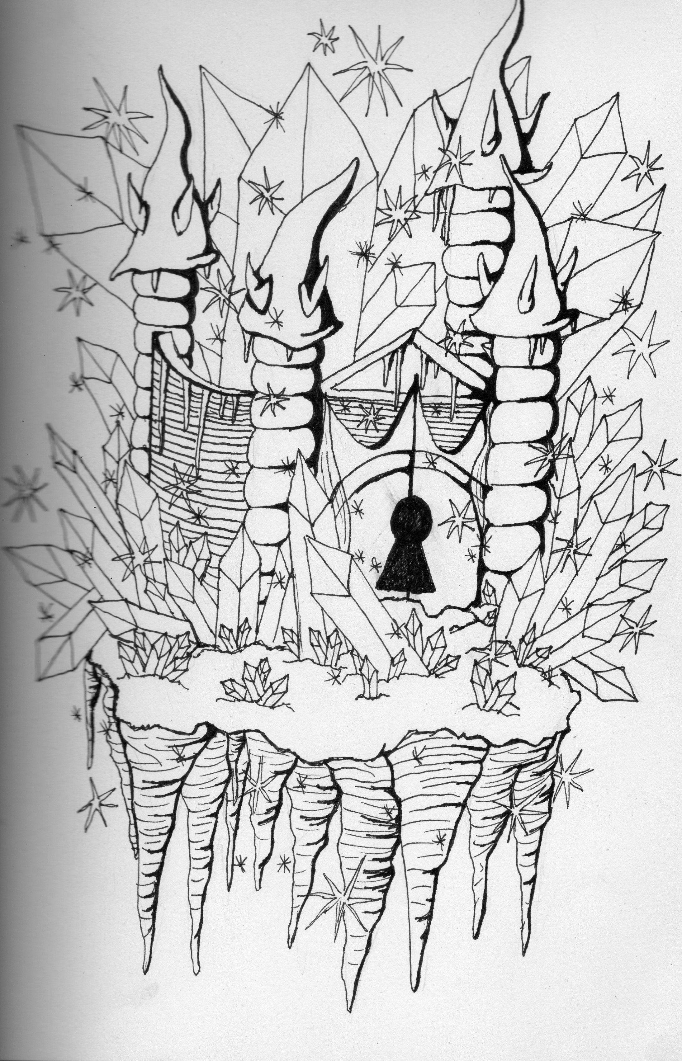 Ice Castle - Drawing | Art | Pinterest | Ice castles, Castle Drawing ...