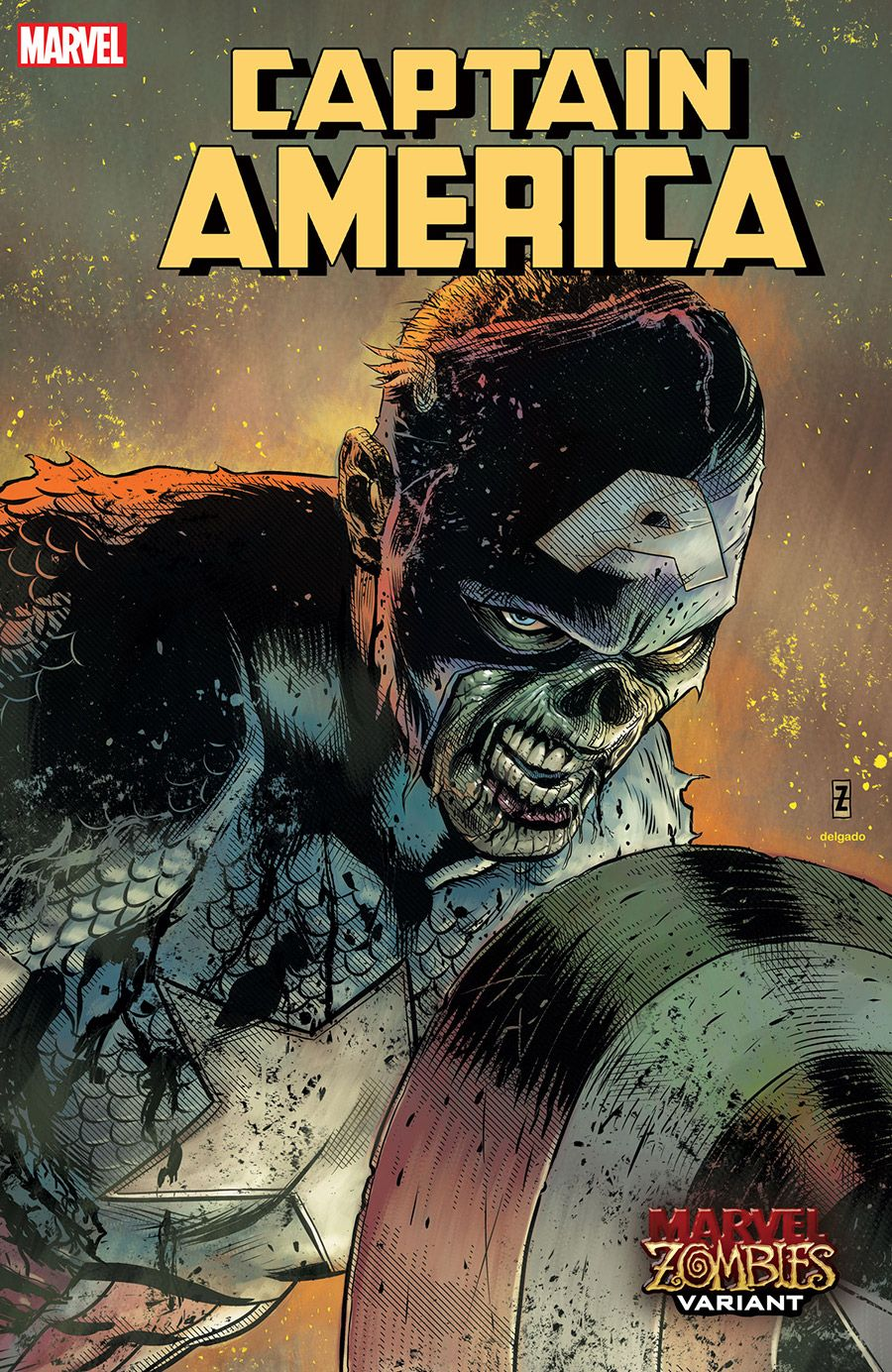 Captain america 21 marvel zombies variant by patch zircher