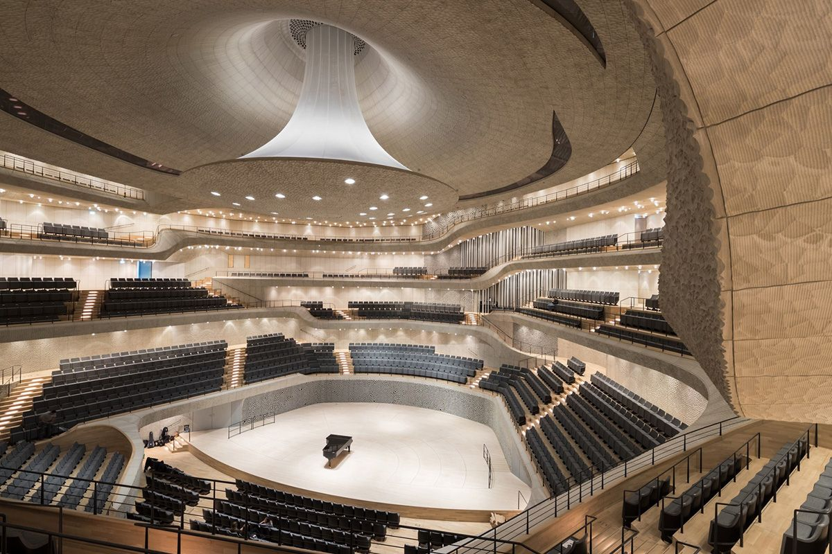 The Plaza Of The Elbphilharmonie By Herzog De Meuron Officially Opened To Public In Hamburg Elbphilharmonie Hamburg Concert Hall Architecture