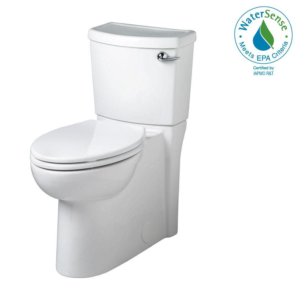 American Standard Cadet 3 Flowise Tall Height 2 Piece 1 28 Gpf Elongated Toilet With Concealed Trapway In White Seat Included Products American Standard