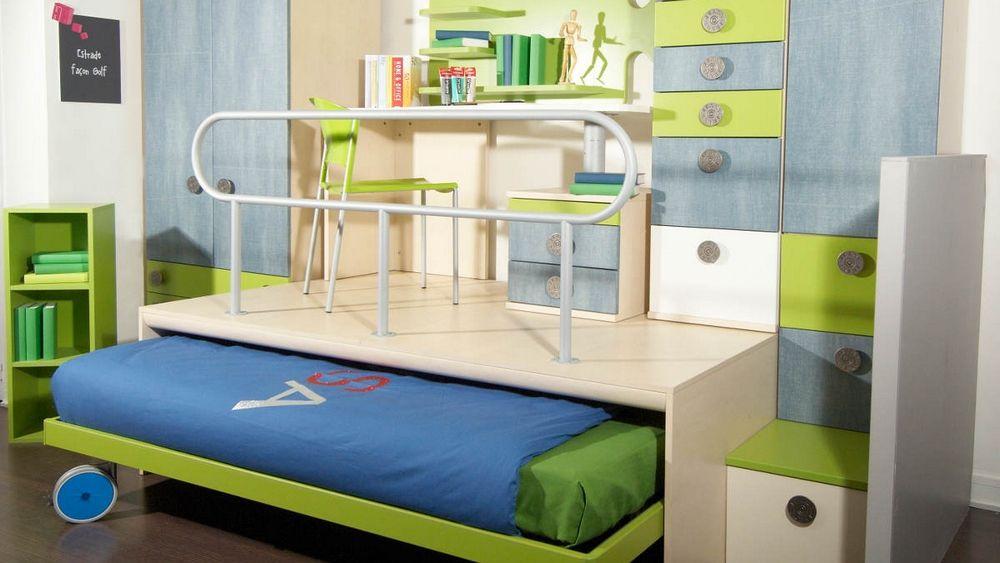 Le Lit Escamotable Pour Petits Espaces Lit Escamotable Lit Bureau Enfant Plans De Lit