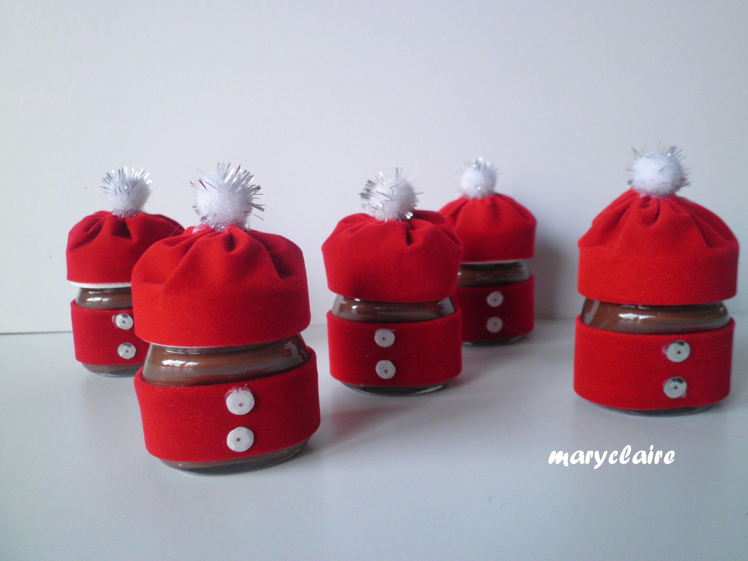 """Nutelline"""" vestite da Babbo Natale Come confezionare dei piccoli"""
