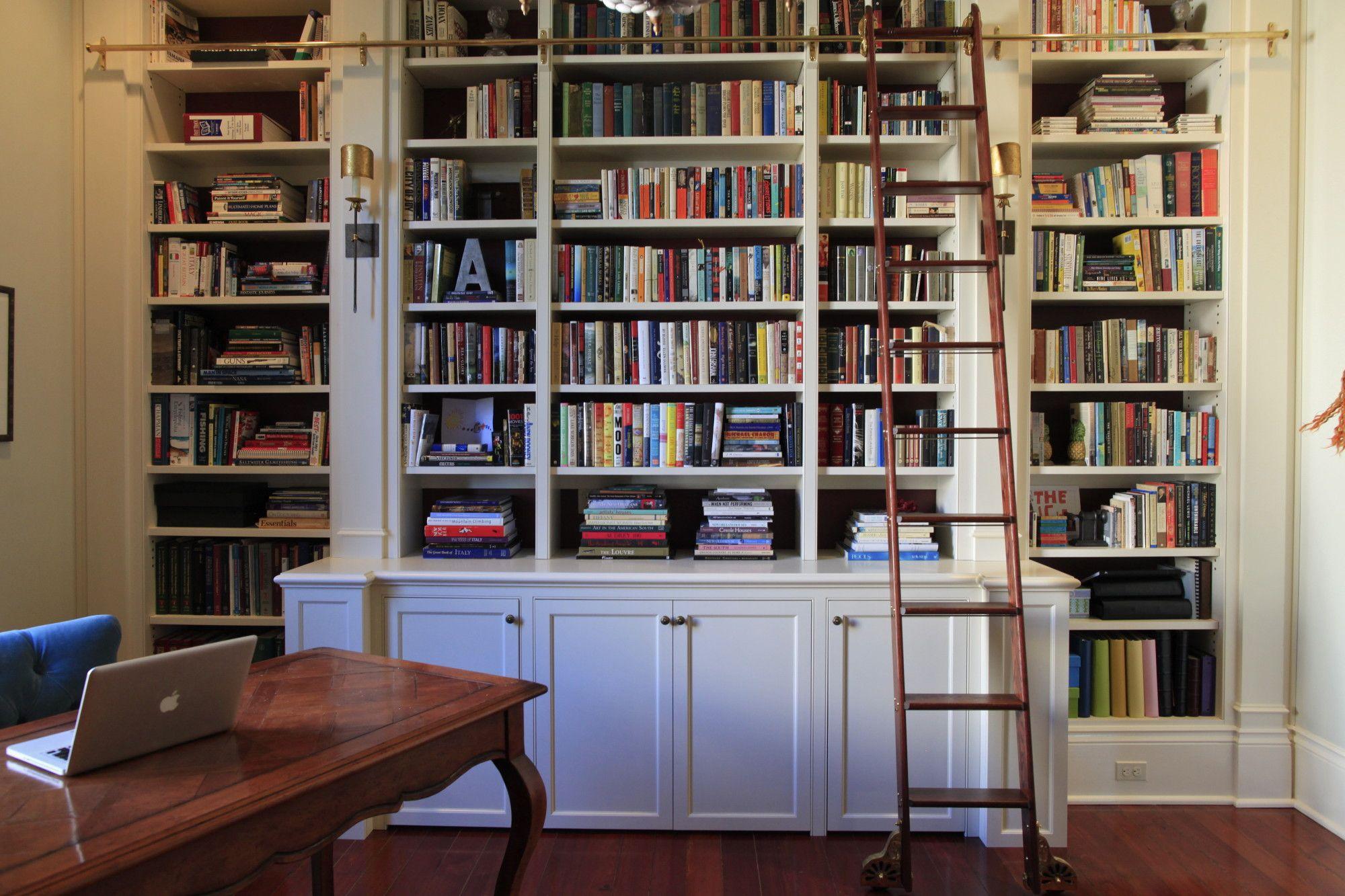 Rolling Ladder Bookcase Built Ins Home Decor
