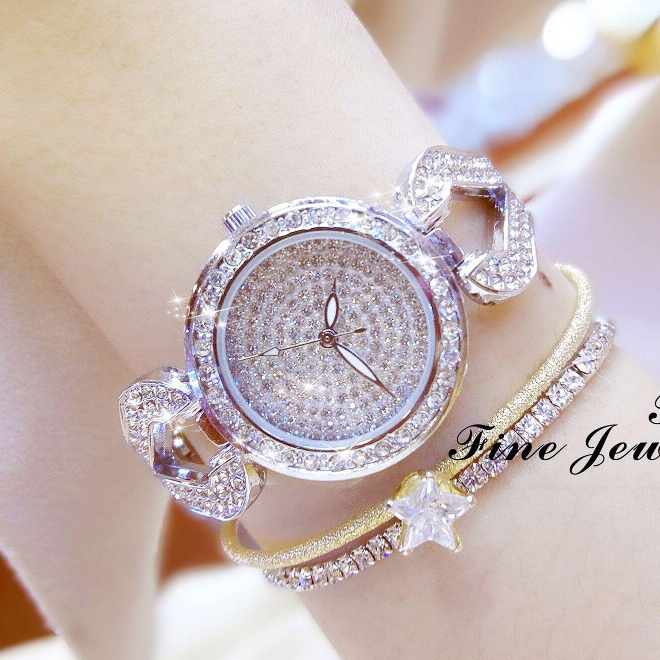Ladies Bracelet Watch,Women Luxury Jewelry Rhinestone Diamond Wrist Watches