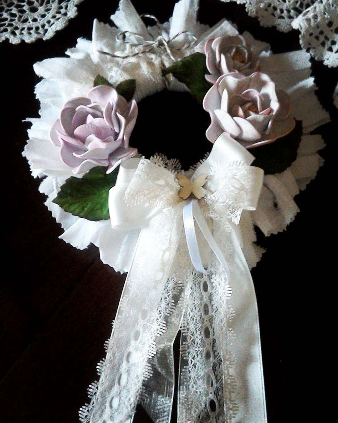 Photo of +80 La ghirlanda fiorita, in stoffa e gommaeva #ghirlande #ghirlandina #juta #pr …