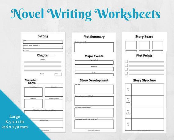 Writing Planner/Novel Planner Printable/ Printable Workbook/ Etsy  Writing, Writing Templates, Novel Writing