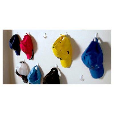 Command Small Designer Hooks 8 Pk White Wall Hat Racks Diy Hat Rack Wall Hats