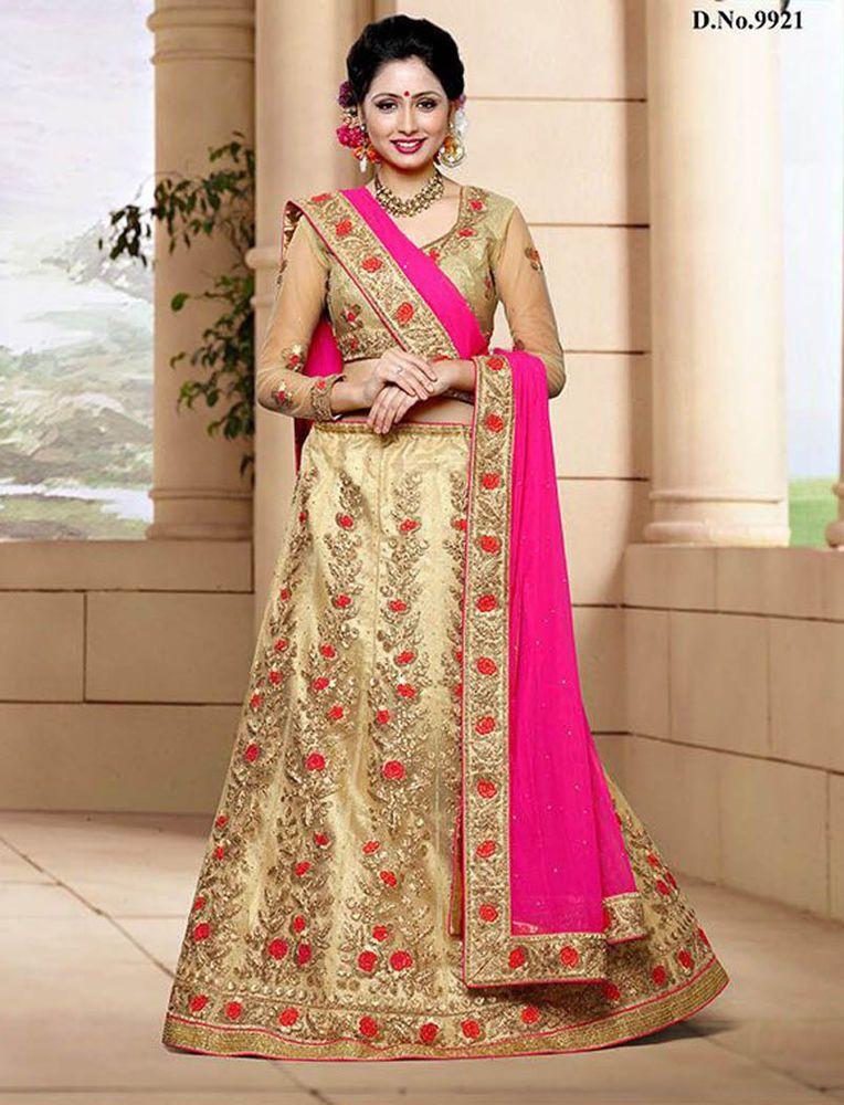 2dec6049207 Indian wedding reception hand work bridal lehenga choli bollywood Ethnic  Dress  Handmade  Lehengacholi