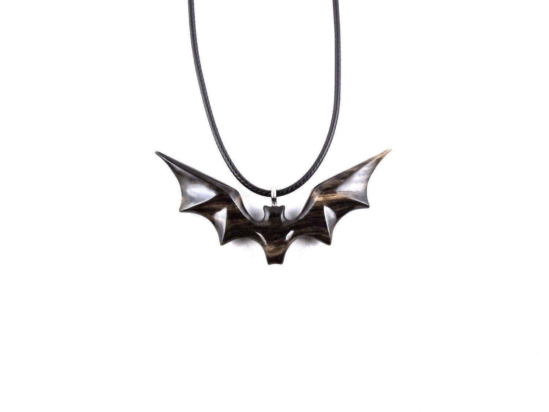 Best 12 Carved Bat Pendant Bat Necklace Wooden Bat Pendant Bat