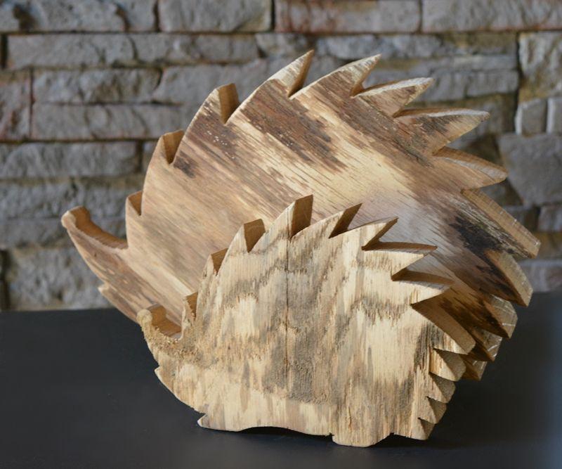 Igel-rustikal, Gr. 2, Holzdeko | HOLZLIEBE-ISERLOHN | Geschenke aus Holz | MADE IN GERMANY