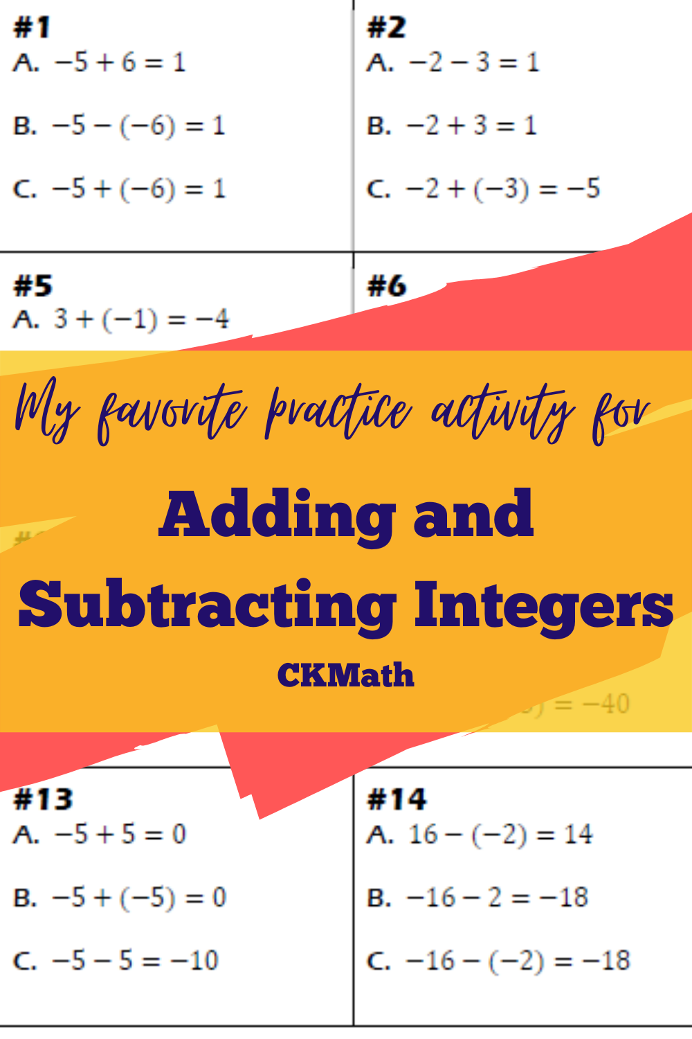 Two Truths And A Lie W Adding And Subtracting Integers Maths Activities Middle School High School Math Lessons Adding And Subtracting Integers [ 1500 x 1000 Pixel ]