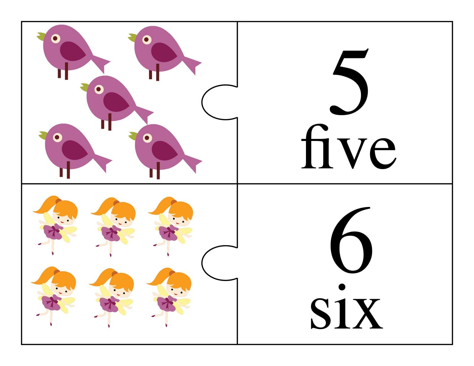 Counting Numbers Printable Flash Card