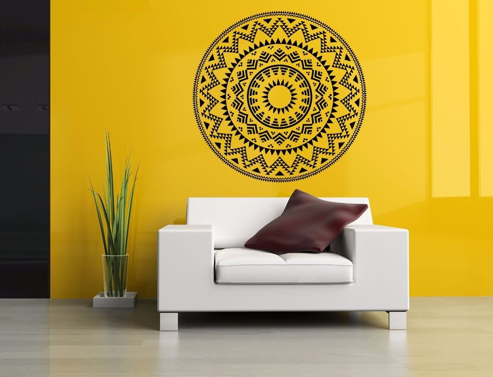 Wall room decor art vinyl sticker mural decal tribal mandala ornament big as2921 3m