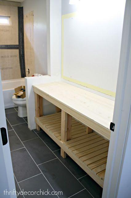 How To Build A Diy Open Bathroom Vanity Open Bathroom Vanity